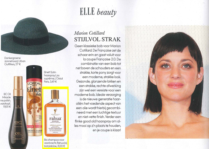 Rahua from biotylab in ELLE June 13