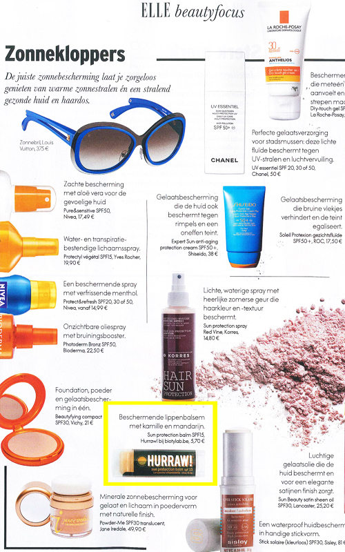 Hurraw from biotylab in ELLE June 13