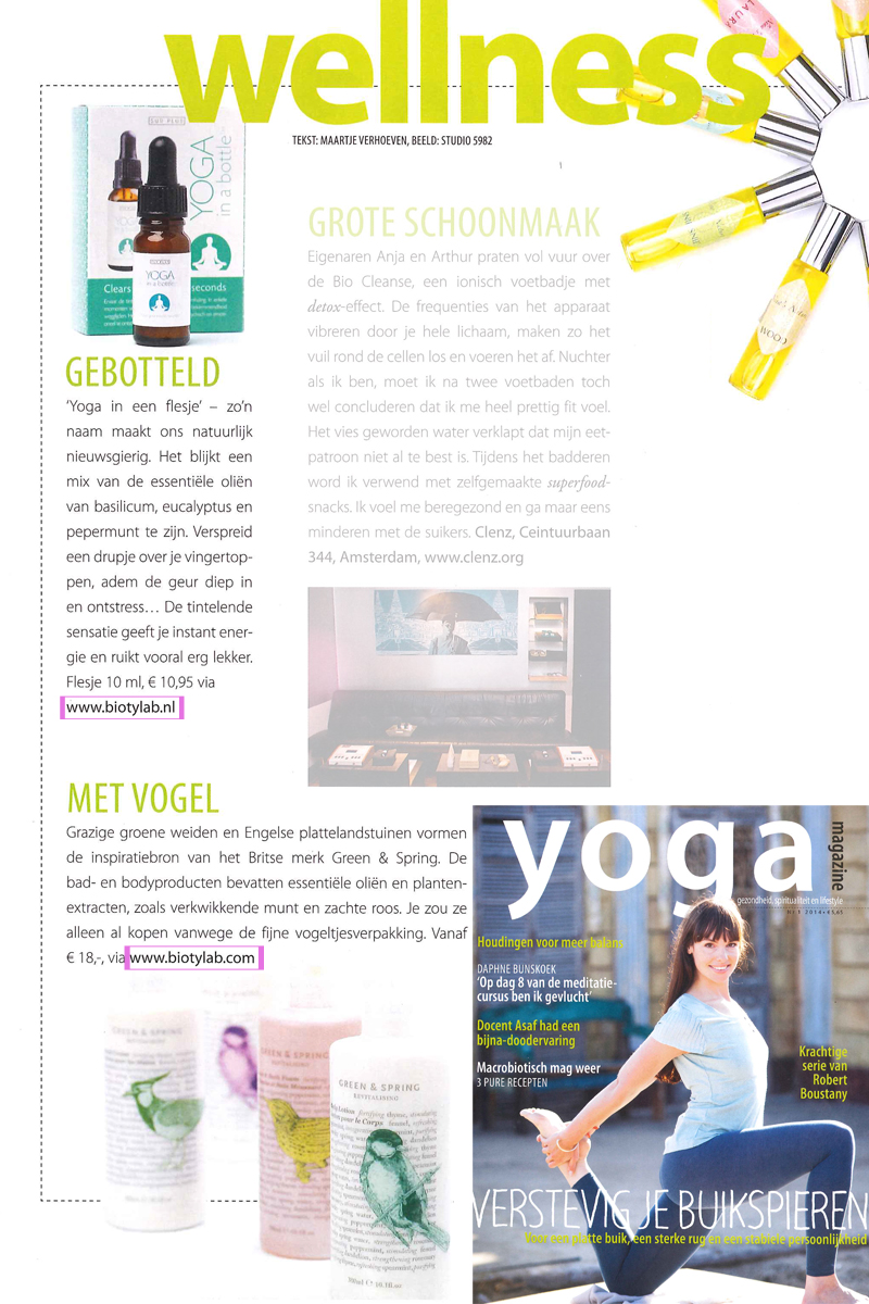 Yoga Magazine Bio'ty Lab