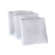 biotylab reusable cottonpads white waffle fabric