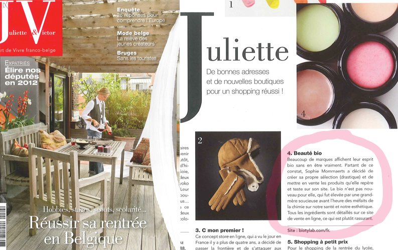 Bio'ty Lab in Juliette&Victor Sept 2011